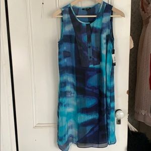 Nic and Zoe Blue Lagoon dress small NWT